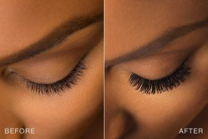 eyelashes before and after use careprost